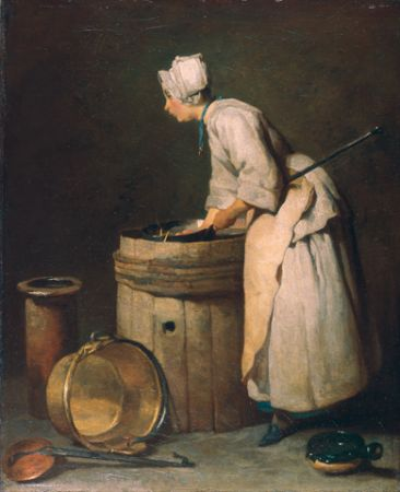 Chardin The scullery maid