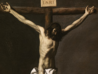The Crucified Christ contemplated by a Painter