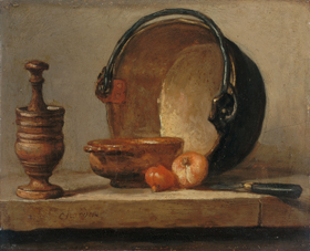 Chardin Mortaio con pestello