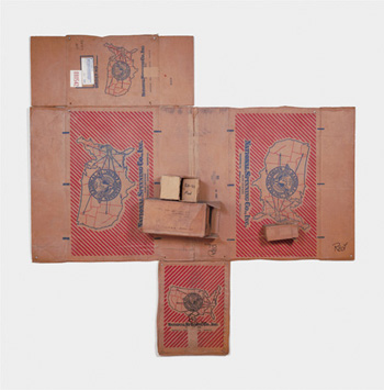 Rauschenberg, National Spinning / Red Spring (Cardboard)